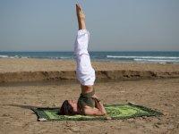 yoga en la playa de valencia