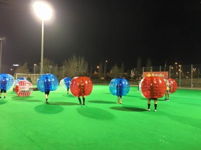 Bubble soccer for groups in Barcelona
