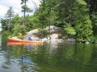 con el kayak por el río
