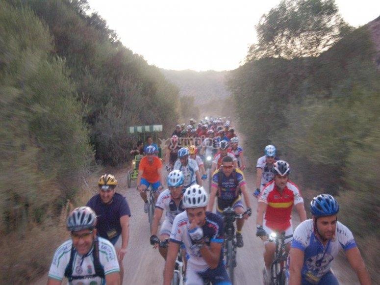 Ciclistas por Cádiz
