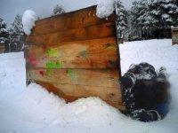 Parapeto nevado