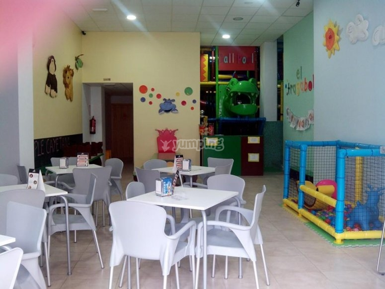 Dining room and games area