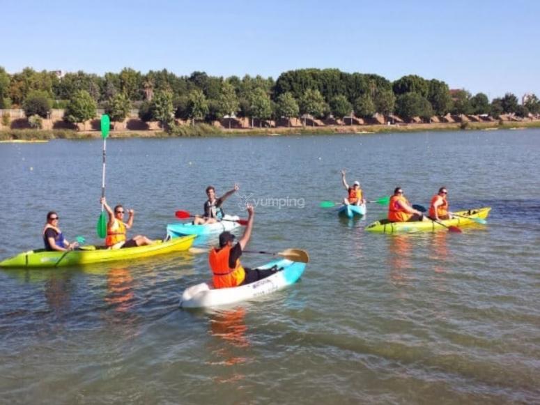Kayaks en Sevilla