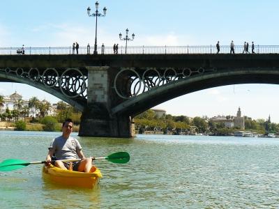 Ruta en kayak por río Guadalquivir en Sevilla 2 h