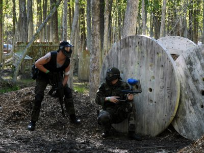 Paintball game with 200 balls in Menorca