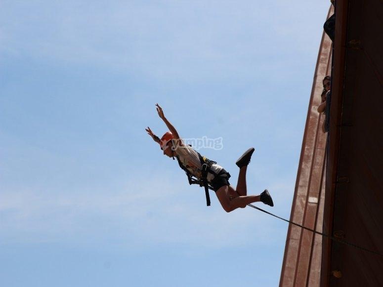 Doble salto de puenting en Yeste