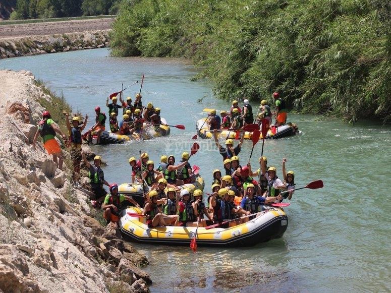 Hacer rafting en Cenajo