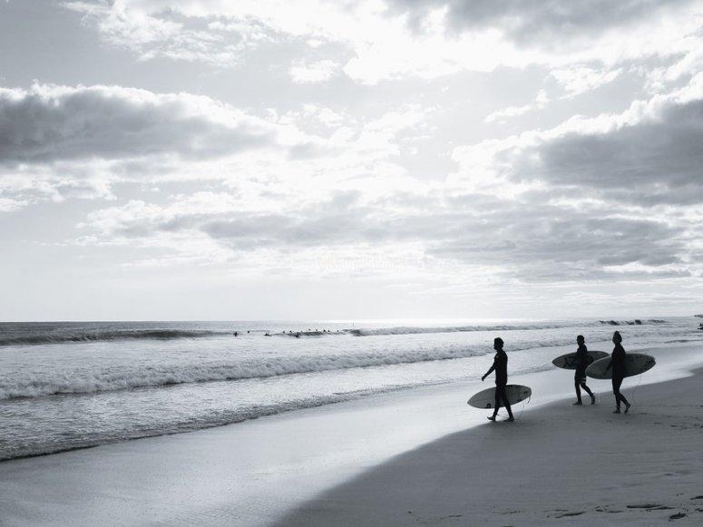Hacia las olas