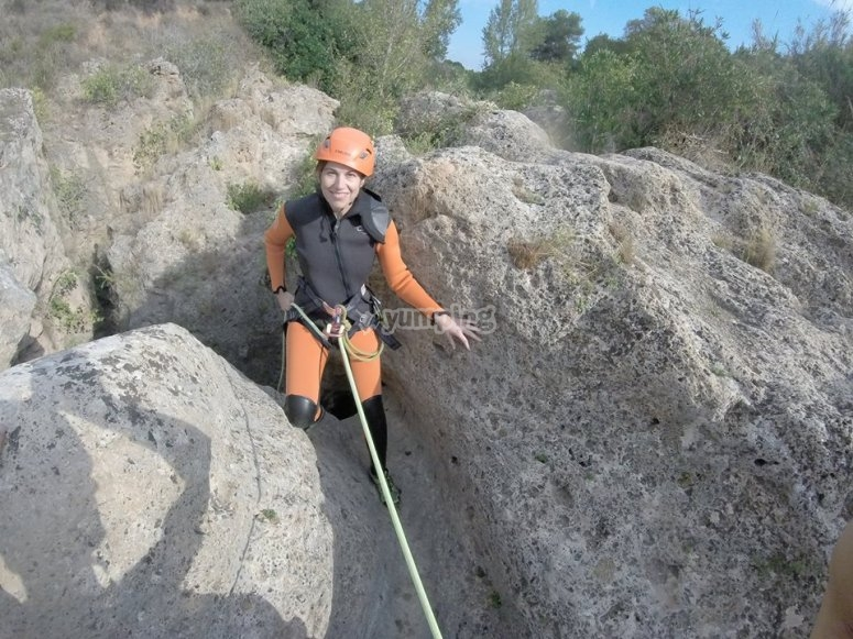 Rappel en Gorgo de la Escalera