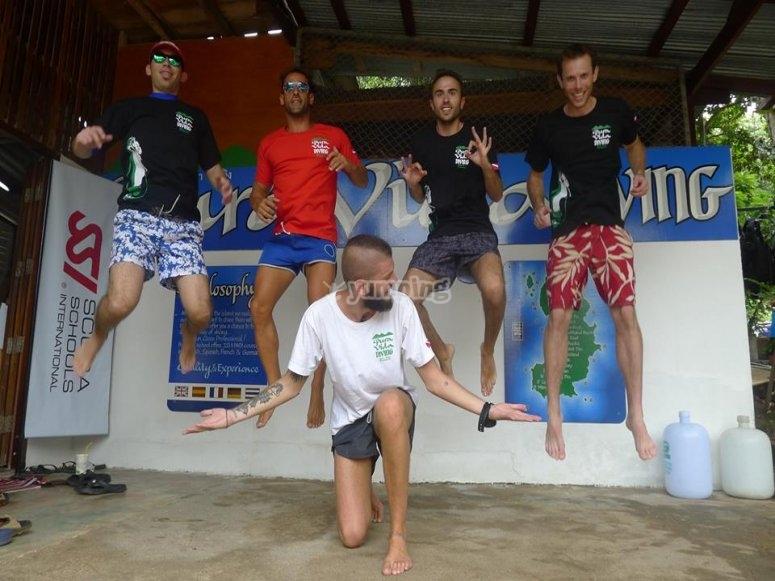 Trainees having fun