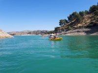 Kayak biplaza en rio de Malaga