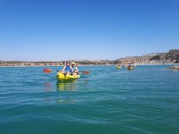 Kayak en embalse de Malaga