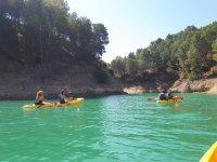 Siguiendo el curso del rio andaluz en kayak