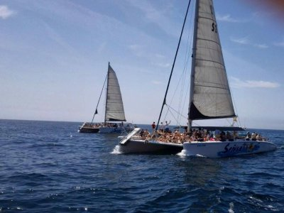 Team building in catamaran from Lloret