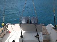 Aparejos de pesca en el barco