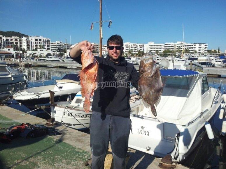 Practicando la pesca
