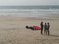 Nociones de kite en la arena