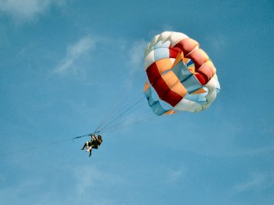滑翔伞观看日落福恩吉罗拉