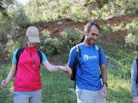 Con el guia de senderismo en Malaga