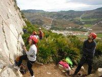 Escalada con jovenes en Malaga