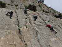 Subiendo la pared vertical en Malaga