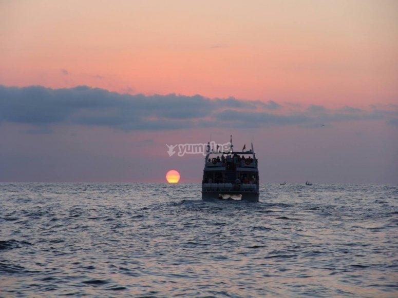 Hacia la puesta de sol