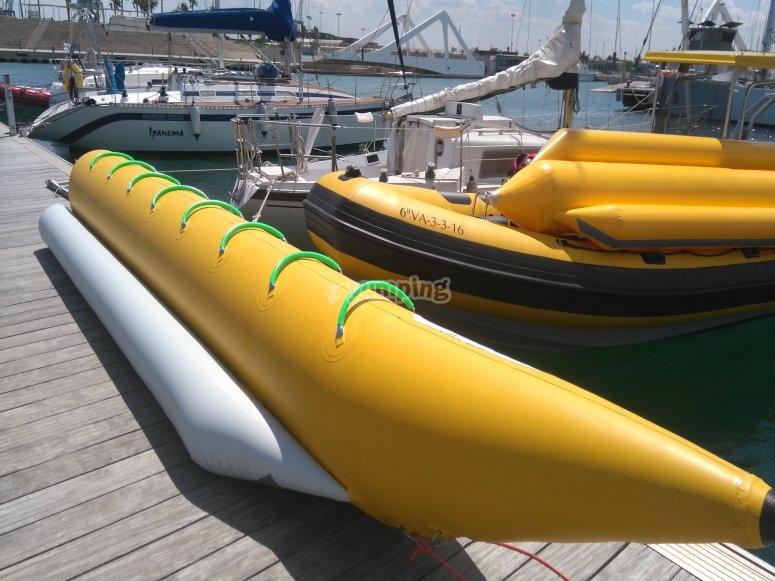 Banana en puerto