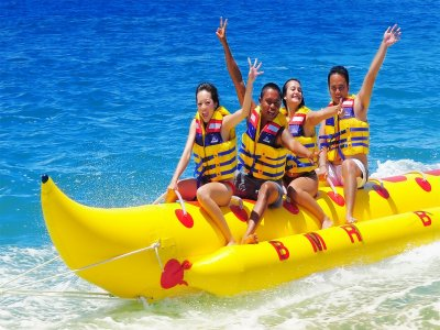 Banana boat party en Valencia 45 minutos