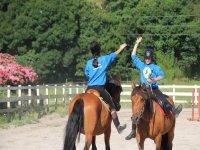 Compañerismo en las clases de equitación