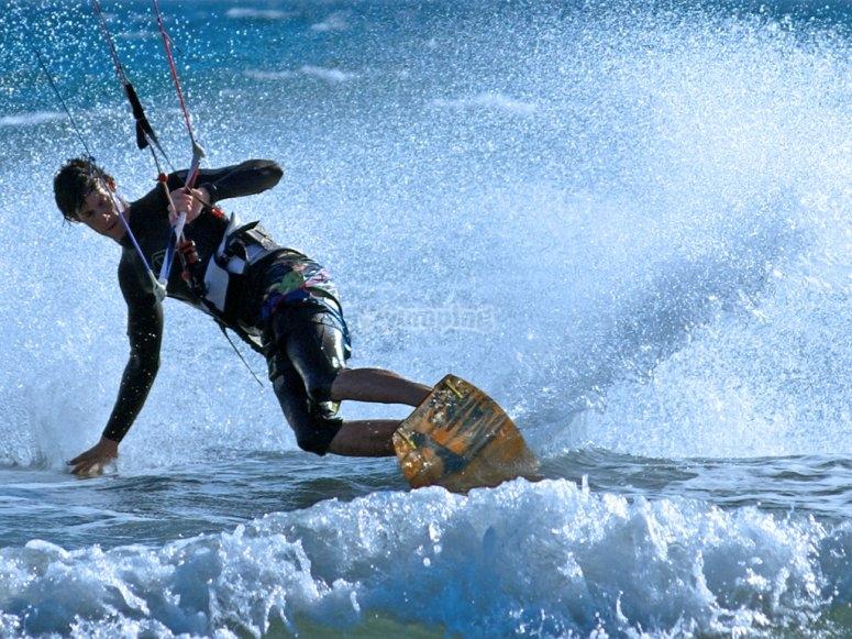 Kitesurf maniobras