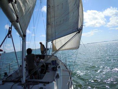 Partenza per navigare nel Mar Menor