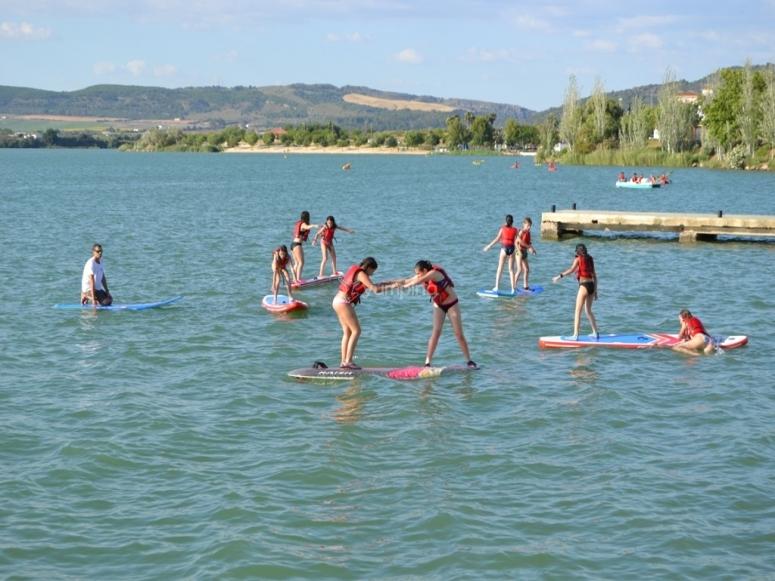 Equilibrio del paddle en el embalse gaditano