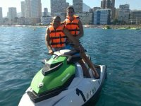 Jet skiing on a two seater