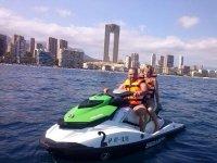 Recorrido en moto acuatica en Benidorm