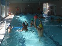 Water-polo en piscina cubierta