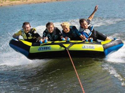 Doghnut float in Costa Dorada. 15 min