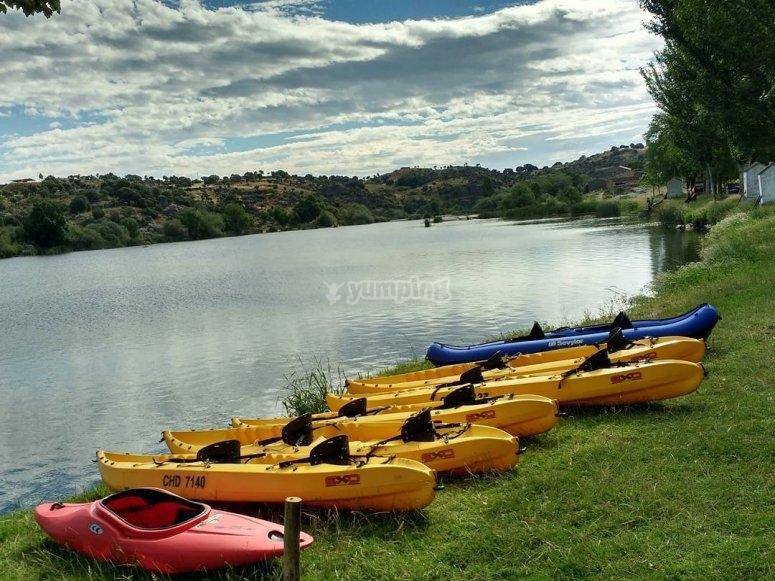 Ruta de piragüismo en río Tormes