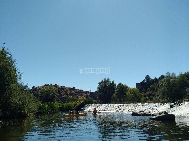 Tour en piragua río Tormes