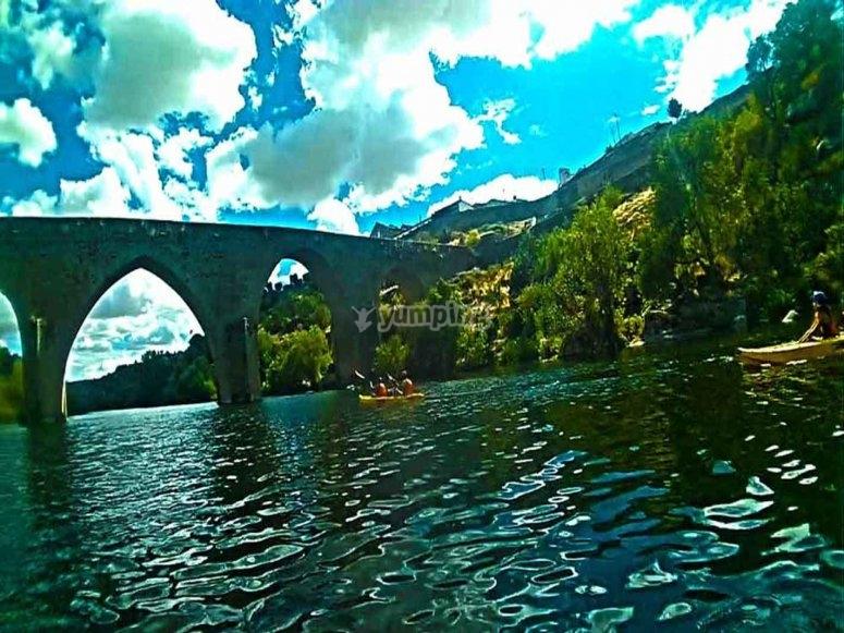 Vistas desde el puente viejo de Ledesma