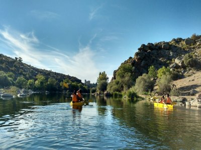 Kayaking for family in Tormes River, 4 people