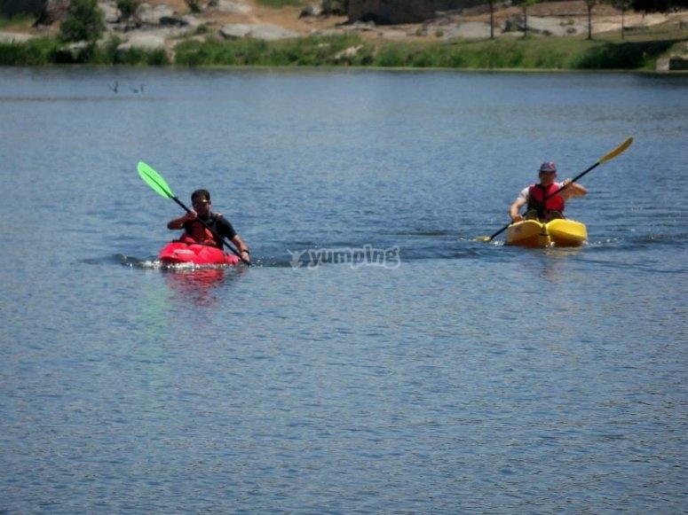 Canoeing in Ledesma