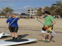 En clase de Paddle Surf