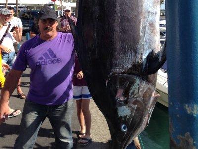 Pesca al curricán en Tenerife medio día