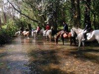 Passeggiata a cavallo attraverso la Valle Barca