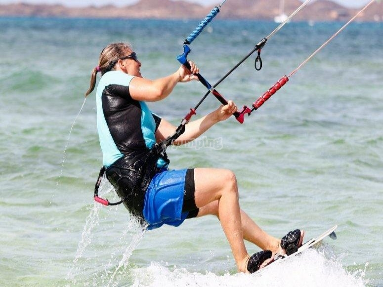 Arrastre en kite