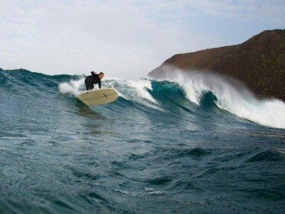 Clase extra de kitesurf en la playa de Corralejo