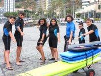 Momentos para el surf