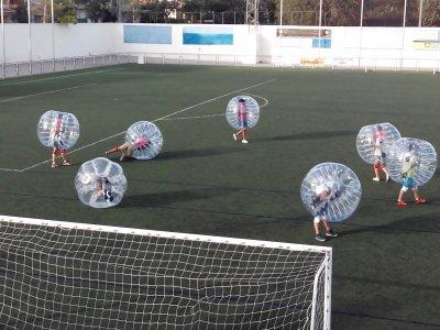 Fútbol burbuja en la costa de Alicante