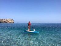 Paddle surf en cala La Rijana con snorkel 2h