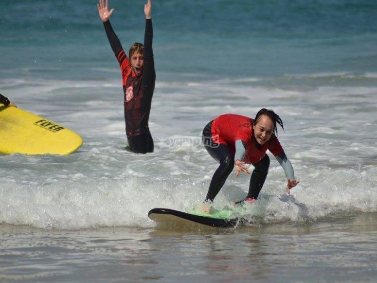 Surfeando por primera vez
